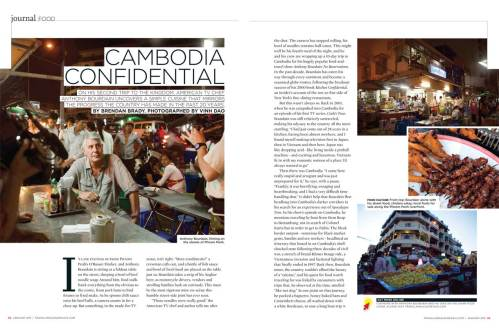 Travel and Leisure SEA Anthony Bourdain article page 1