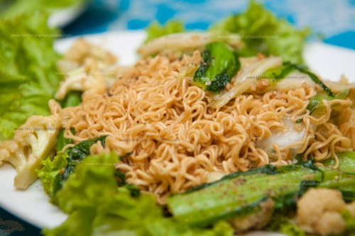 Mi Xao Chay or Fried Vegetarian Noodles
