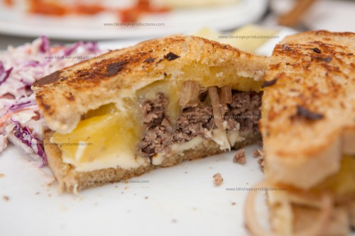 Cheese overload on the patty melt