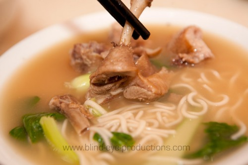 Noodle soup with duck at Shan Dong