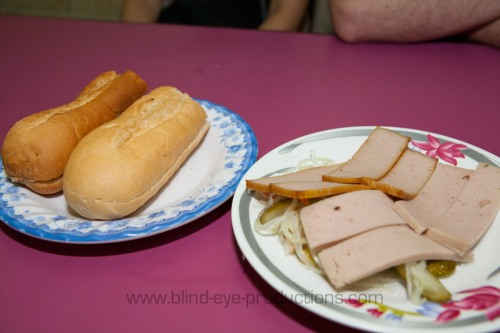Pate and baguette combination