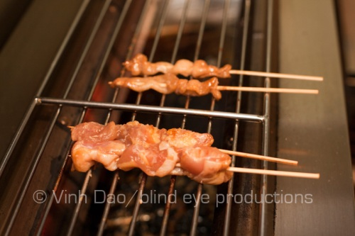 Yakitori on the grill