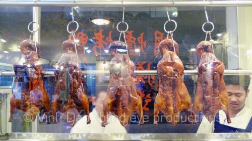 Hanging Peking Duck