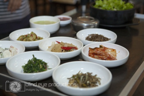 Array of sides at La Korea
