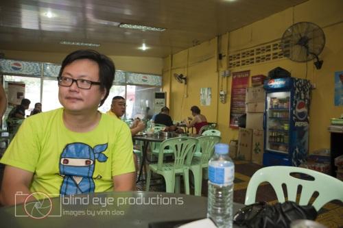Jeremy sits in Hometown Bak Kutteh