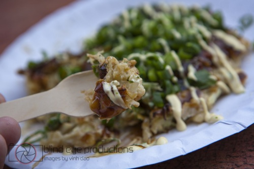 Okonomiyaki at the Sho Foo Doh stand at Chatsworth E5 market