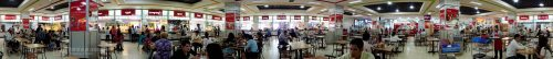 Panorama of the 4th floor food court at Sorya