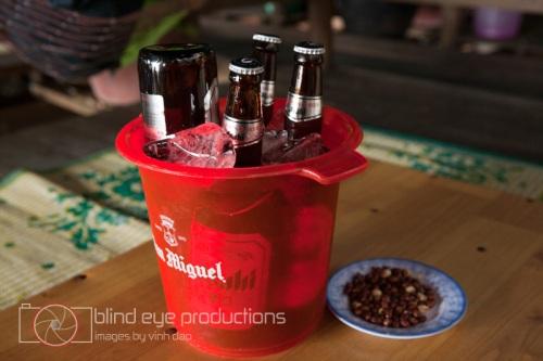 Asahi beer in a bucket