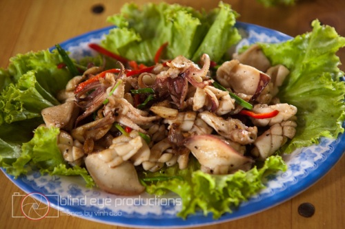 Fried squid with  pepper sauce