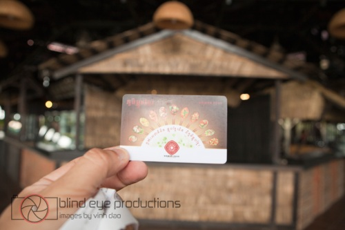 Coupon card for the Khmer Food Village