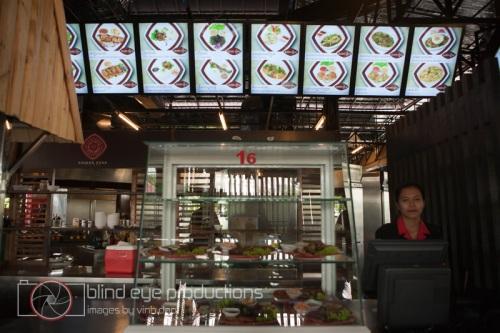 Menu at the Khmer Food Village