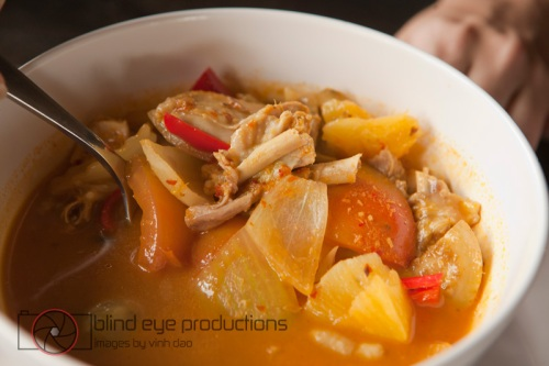 Coconut sour soup with chicken