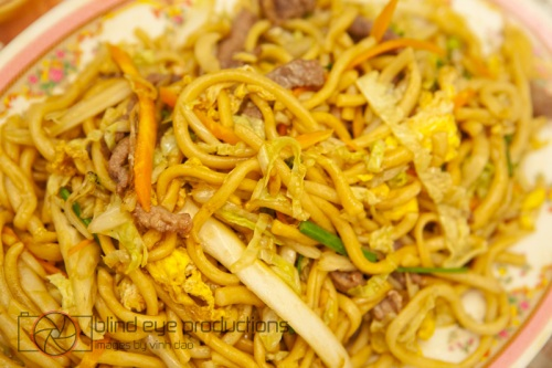 hand cut fried noodles