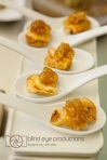 Pork wontons with mango chutney