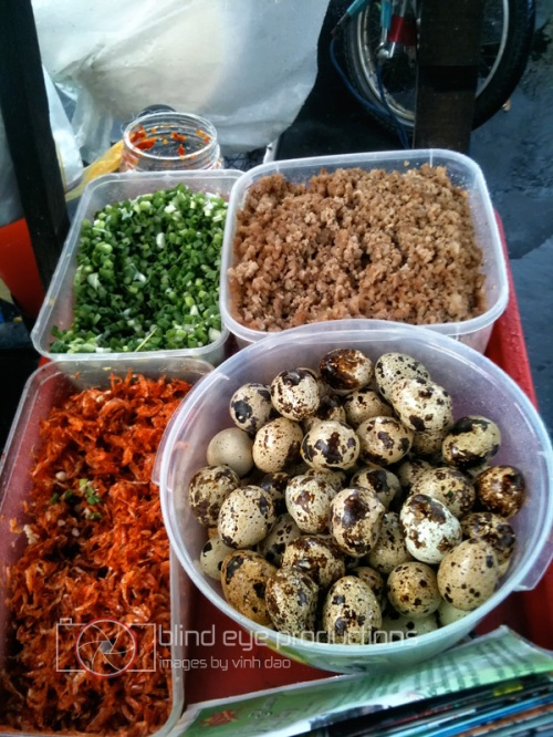 Ingredients for the Banh Trang Nuong