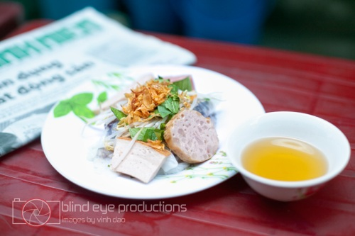 Banh Cuon with 4 types of Cha Lua