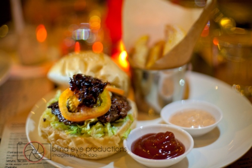 Sous vide burger at Deco